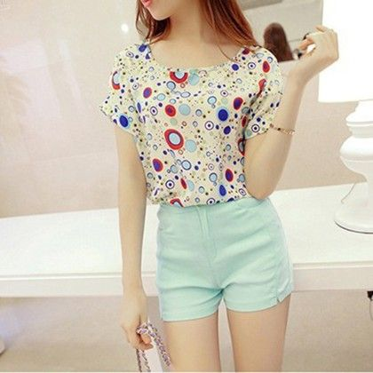 Dotted Chiffon Top - Dell's World