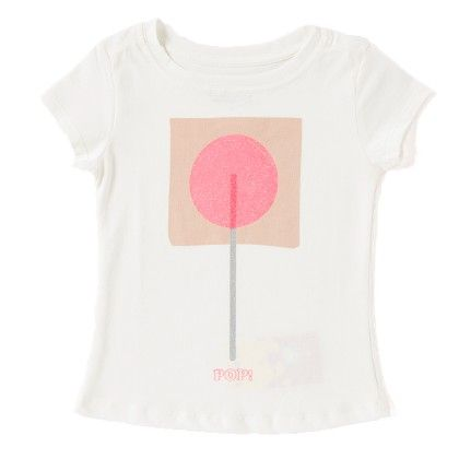 Candy Pop Print White T-shirt - Do Re Me