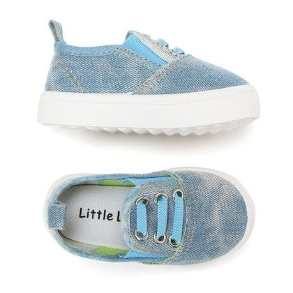 Canvas Slip On Shoes - Blue - Little Feet
