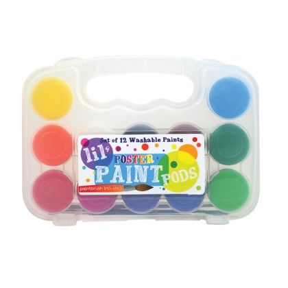 Lil Paint Pods - Set Of 12 - Poster Paint & Brush - International Arrivals
