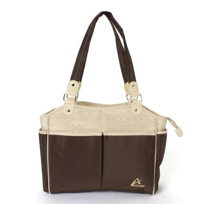 Advance Baby Multi Function Mama Tote Diaper Bag-cream-brown - A Baby