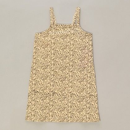 Spaghetti Top With Leopard Print - Brown - A.T.U.N
