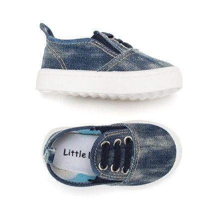 Canvas Slip On Shoes - Navy - Little Feet