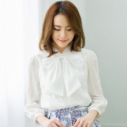 Bow Knot Lace Top - Dell's World