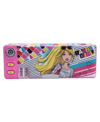 Barbie 2 Button Pencil Box - My Baby Excel