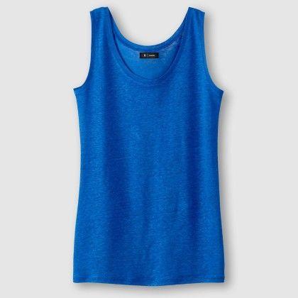 Bleu Profond Melange Tank Top - La Redoute