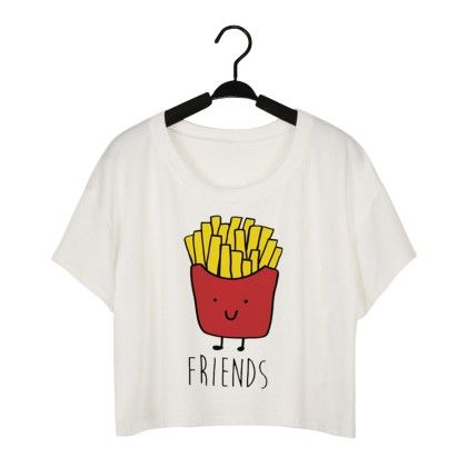 Fries Print Crop Top - Dell's World