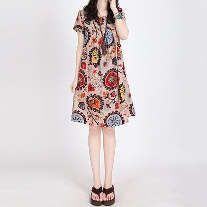 Summer Mix Printed Dress - Style O Style