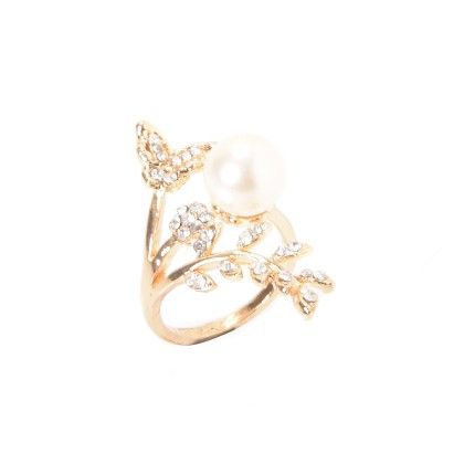 Butterfly With Pearl Ring Multi - Wilfred Jewellery