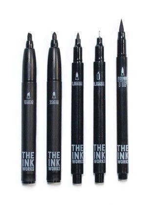 The Ink Works Markers- Set Of 5 - International Arrivals