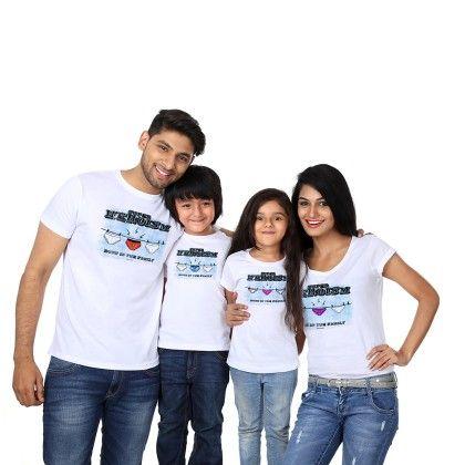 Girl's Super Heroism Print White T-shirt - BonOrganik