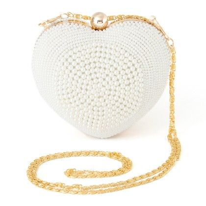 Elegant And Stylish Pearls Clutch For Women - Mauve Collection