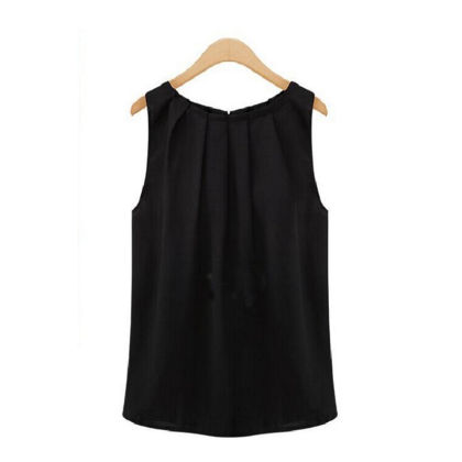 Pleated Black Top - Dell's World