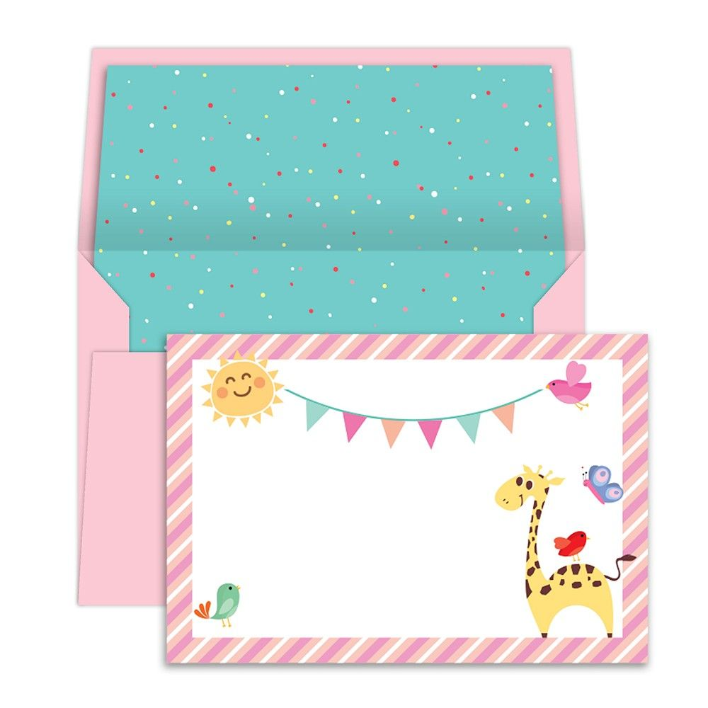 Notecards With Envelope Animal Party - Dots & Doodles