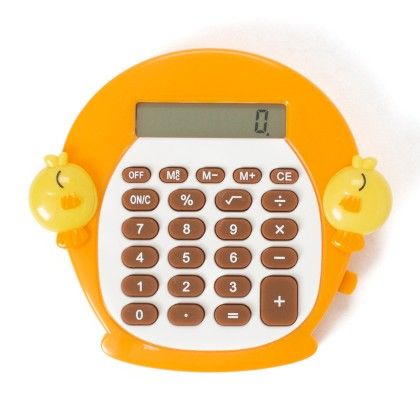 Mini Calculator (with Animal Faces) Orange - It's All About Me