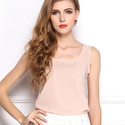 Light Pink Sleevless Top - Dell's World