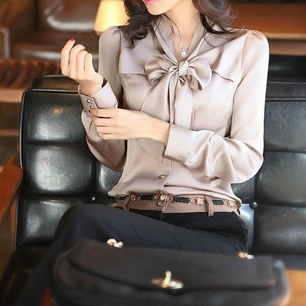 Bow Style Khaki Color Formal & Casual Shirt - STUPA FASHION