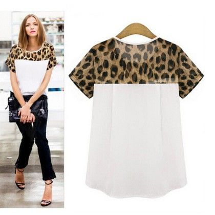 White Tiger Print Top - Dell's World