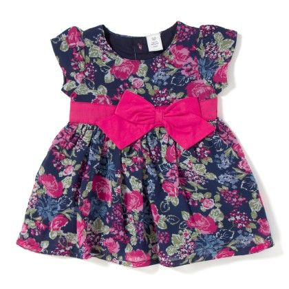 Floral Printed Dress With Bow - TOFFYHOUSE