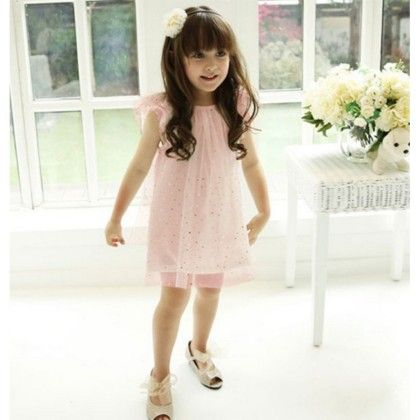 Pink Glitter Dress - Angel Closet