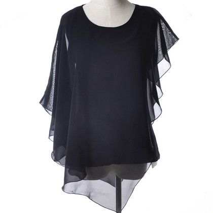 Black Batwing Flair Top - Dell's World