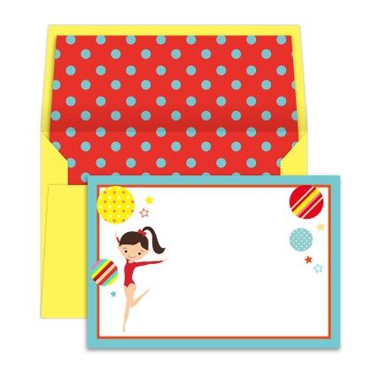 Notecards Gymnast - Dots & Doodles