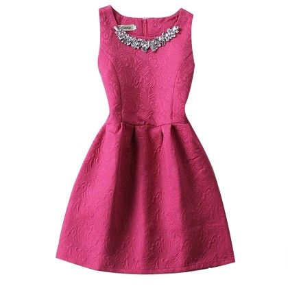 Slim Thin Vest Dress Women Mini Tutu Summer - Hot Pink - STUPA FASHION
