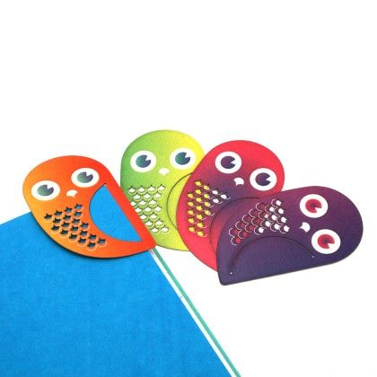 Set Of 4 Owl Bookmarks - Two For Joy