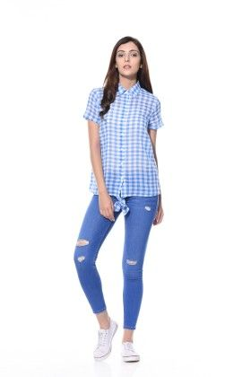 Summer Perfect Shirt With Bow - Klaede