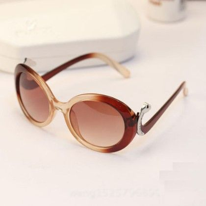 Oval Shaped Frame Sunglasses - URB-N-ANGELS