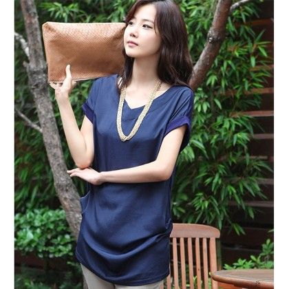 Elegant Vintage Blue Color Top - STUPA FASHION