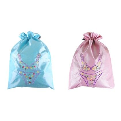 Silk Embroidered Bra & Panties Lingerie Bag Assorted 1 Unit - Wrapables