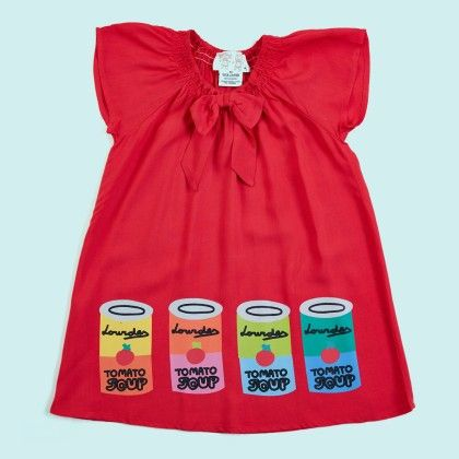 Pop Art Dress Ruffles Neck Dress - Lourdes