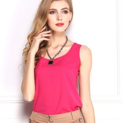 Pink Sleevless Top - Dell's World