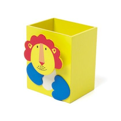 Yellow Wooden Animal Pen Stand - Sale Zone