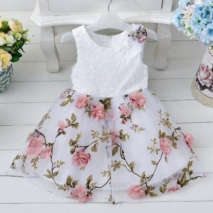 Multi Floral Print Party Dress - MeiQ