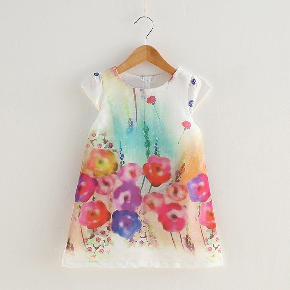 Multicolour Floral Print Dress - Lil Mantra