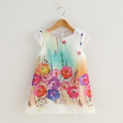 Multicolour Floral Print Dress - Lil Mantra