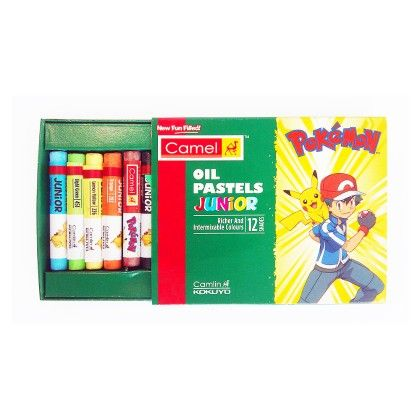 Camlin Pokemon Oil Pastel - 12 Shades Pack Of 5