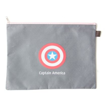 Super Hero A4 Size Captain America (grey) - It's All About Me