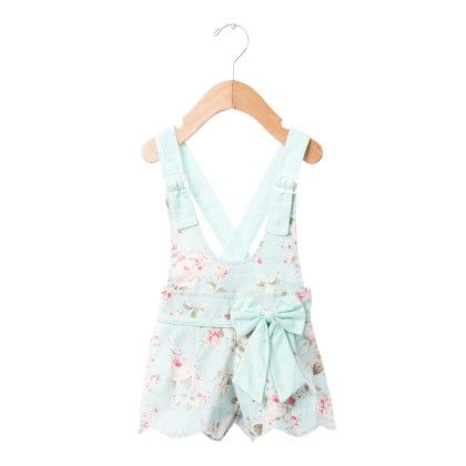 Sea Green Floral Print Jumpers With Bow - De Berry