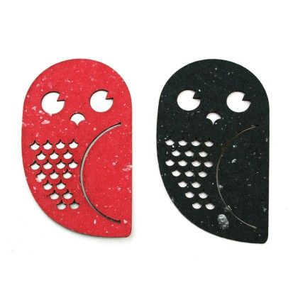 Set Of 2 Owl Bookmarks - Two For Joy