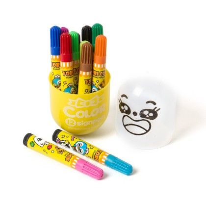 Yellow Color Pen Set Of 12 - Sale Zone