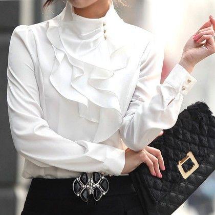 Top Office Work Wear White - STUPA FASHION