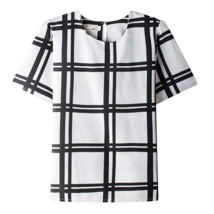 Chequered Print Top - Dell's World