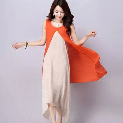 Dress With Orange Shrug - Dell's World