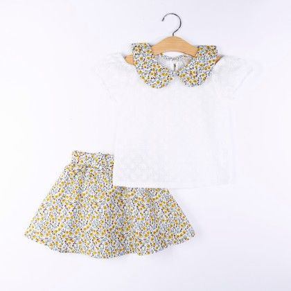 Beautiful Printed Top And Skirt Set - Multi - H