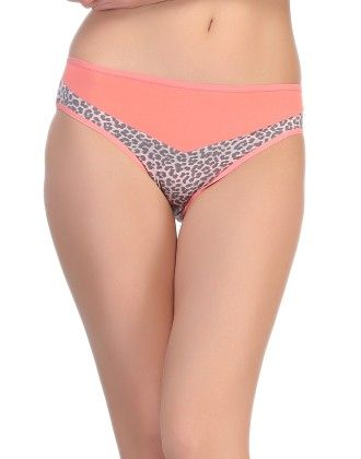 Clovia Polyamide Bikini In Peach
