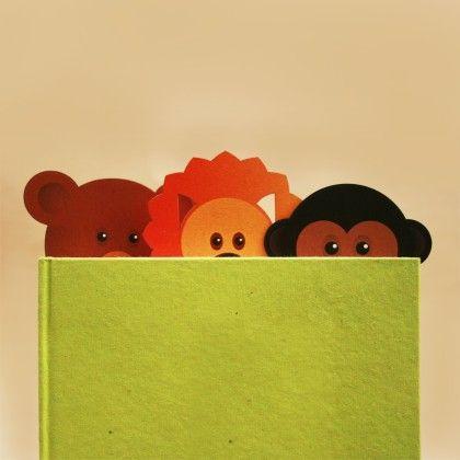 Set Of 3 Wild Animal Bookmarks - Two For Joy