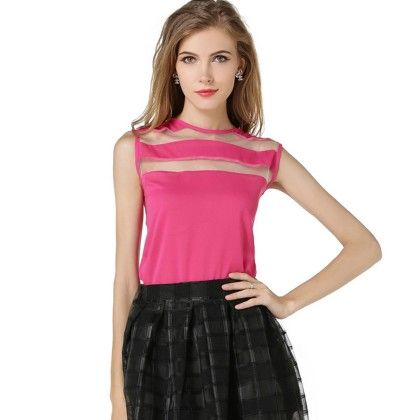 Pink Netted Top - Dell's World